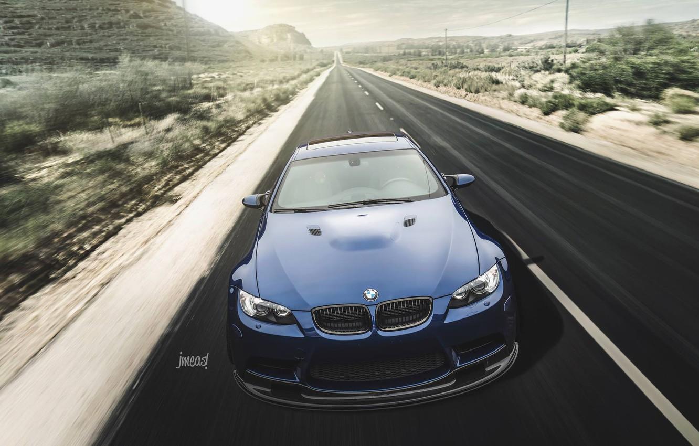 Photo wallpaper BMW, Blue, E92