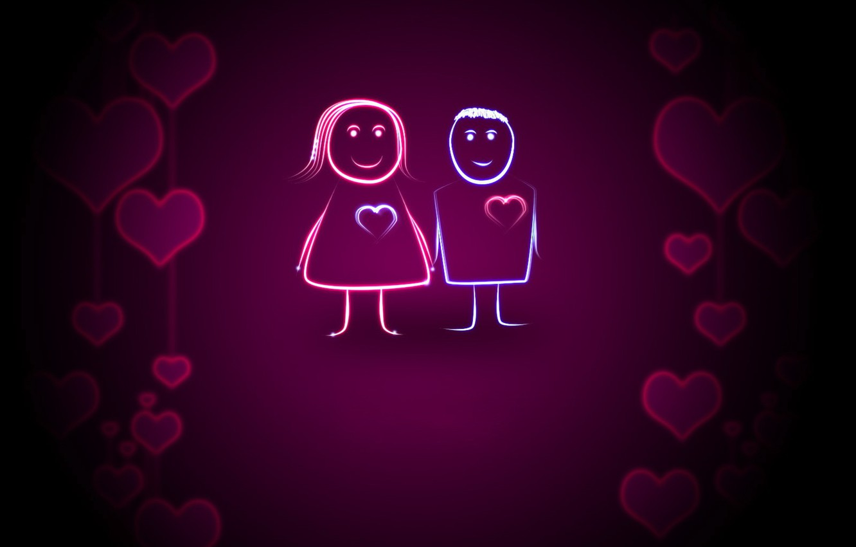 Photo wallpaper love, heart