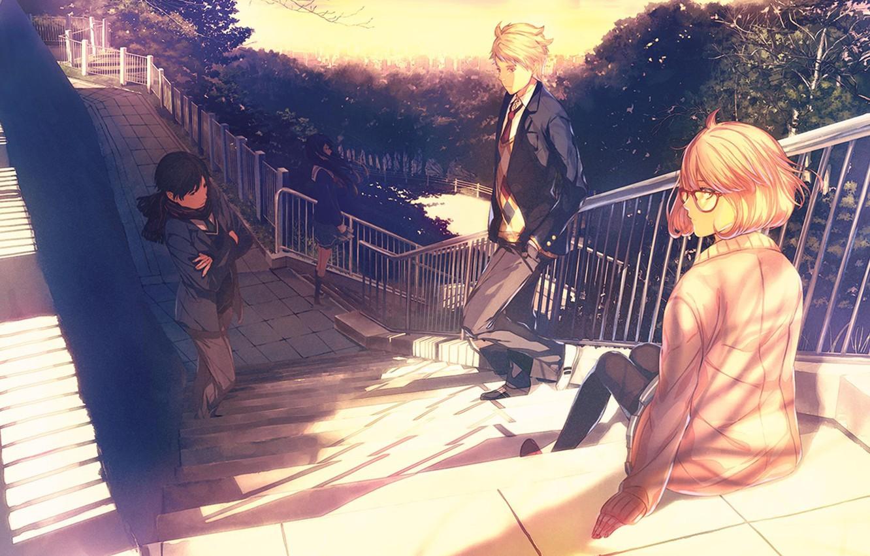 Wallpaper Anime Kyoukai No Kanata Hiromi Nasa Mirai