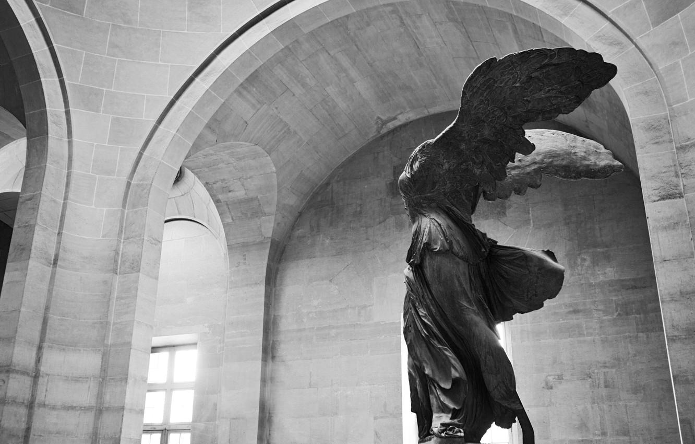 Wallpaper Girl Paris Woman Wings Walls Black And White