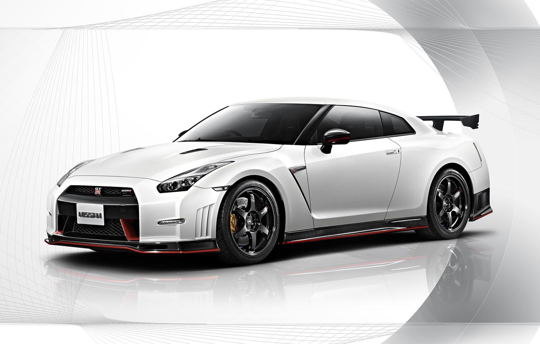 Photo wallpaper Nissan, white, GT-R, R35, Nismo