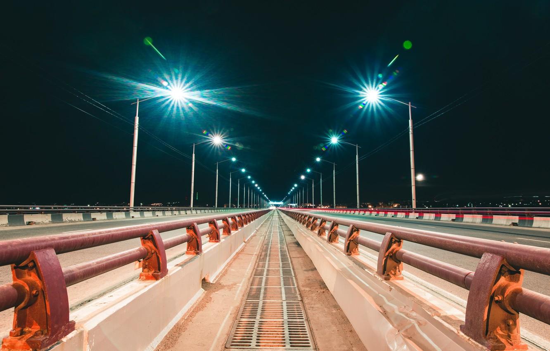 Photo wallpaper Photo, Bridge, Night, The city, Lights, City, Night, Photo, Irkutsk, Irkutsk