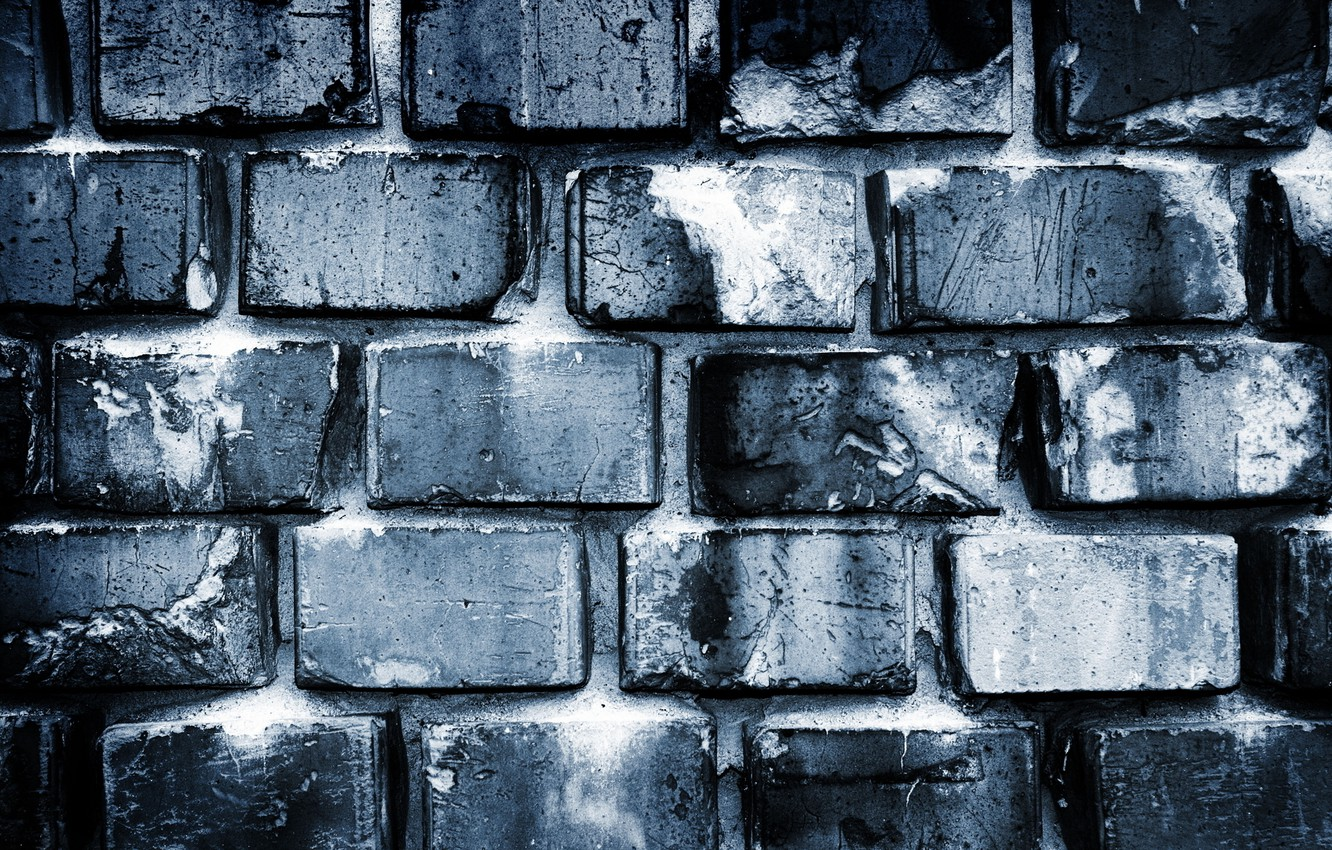 Photo wallpaper wall, white, black, bricks, Grey, pattern, cement