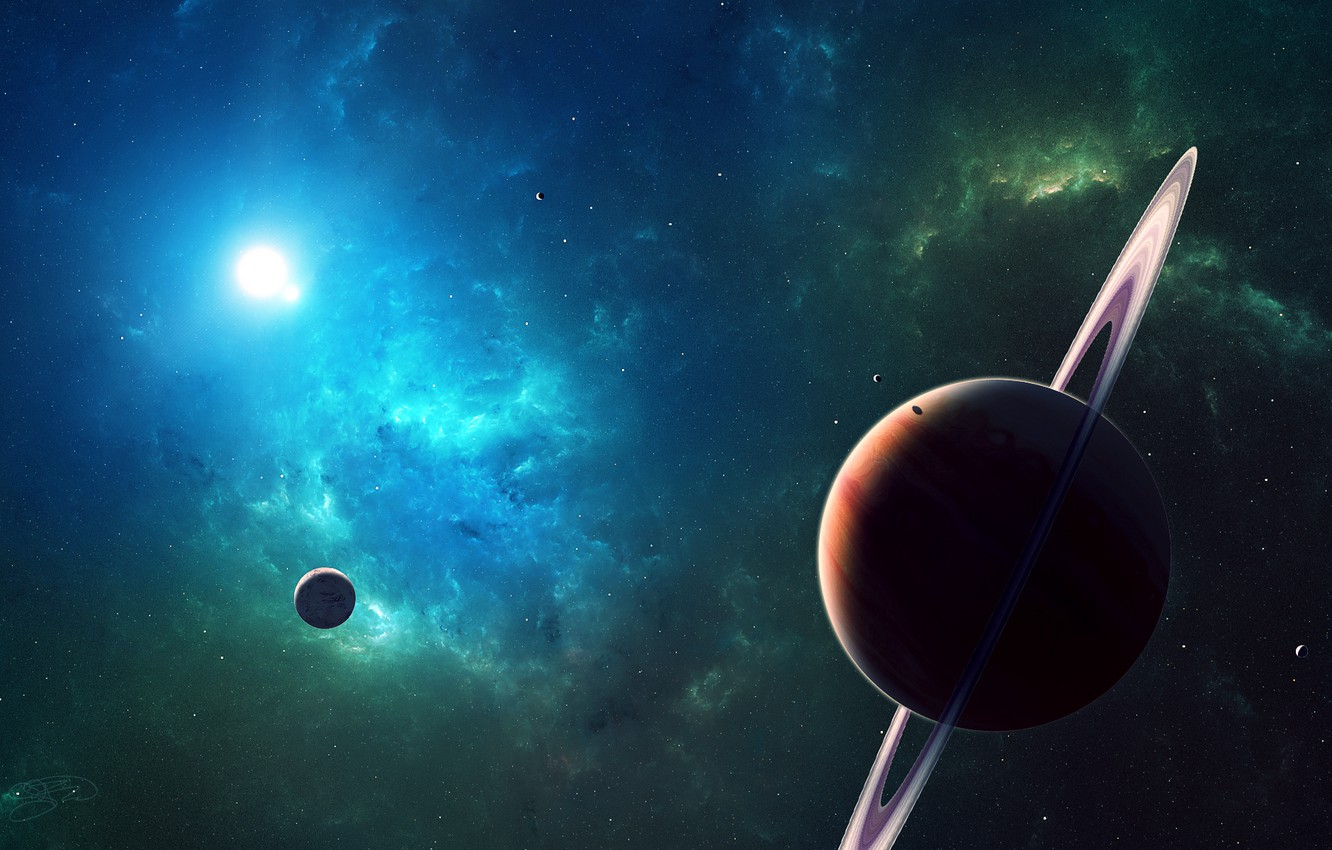 Photo wallpaper planet, space, star, planets