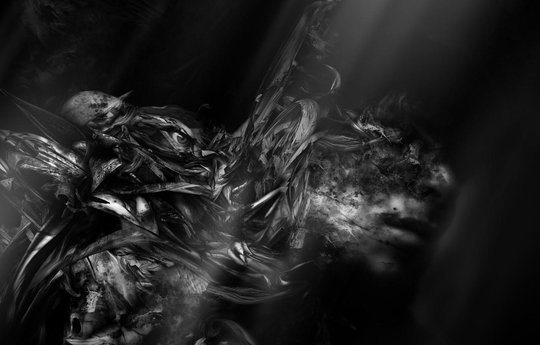Photo wallpaper night, fear, fiction, black, dark, people