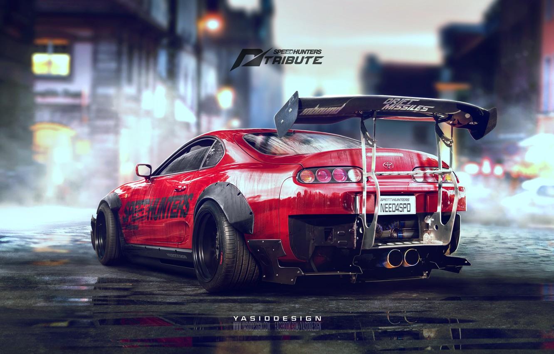 Photo wallpaper Toyota, Drift, Supra, Tuning, Spoiler, Need for speed, Speedhunters, 2JZ, YASID design