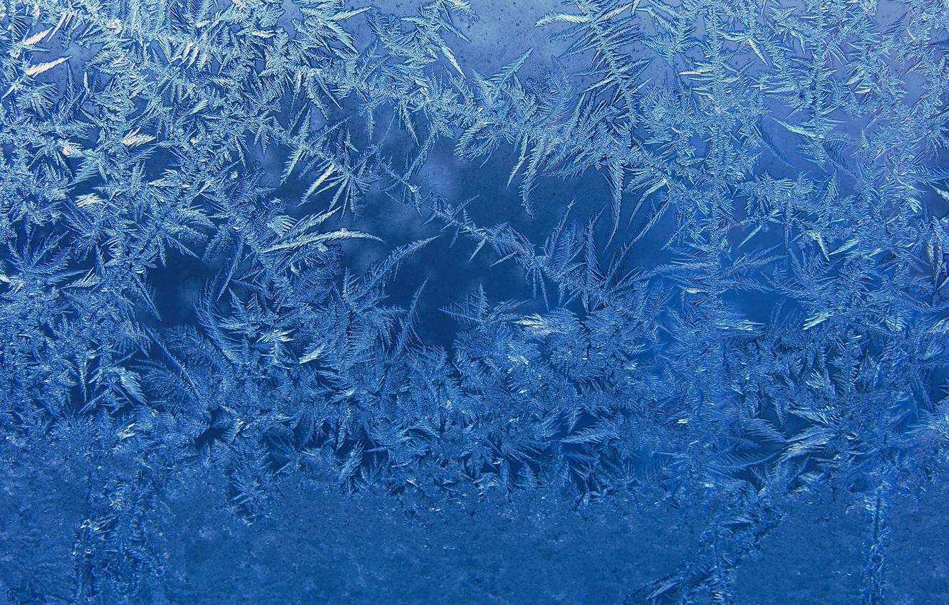 Photo wallpaper glass, background, blue, frost