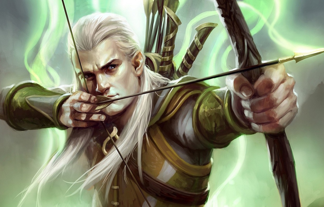 Photo wallpaper elf, bow, the Lord of the rings, art, lord of the rings, Legolas, Guardians of …