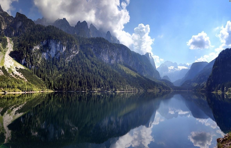 Photo wallpaper clouds, reflection, Austria, Austria, Dachstein