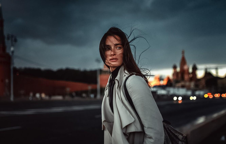 Photo wallpaper Girl, Look, The wind, Hair, Natalia KVINT