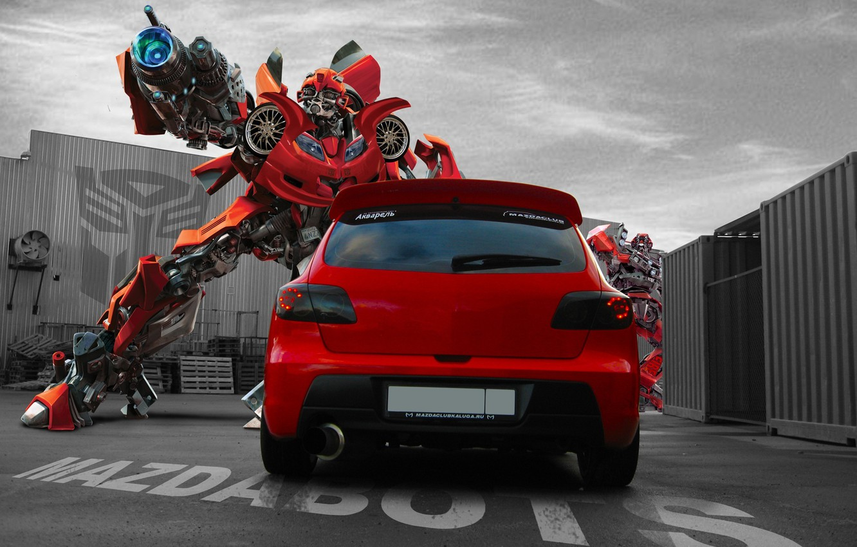 Photo wallpaper transformer, pipe, Mazda