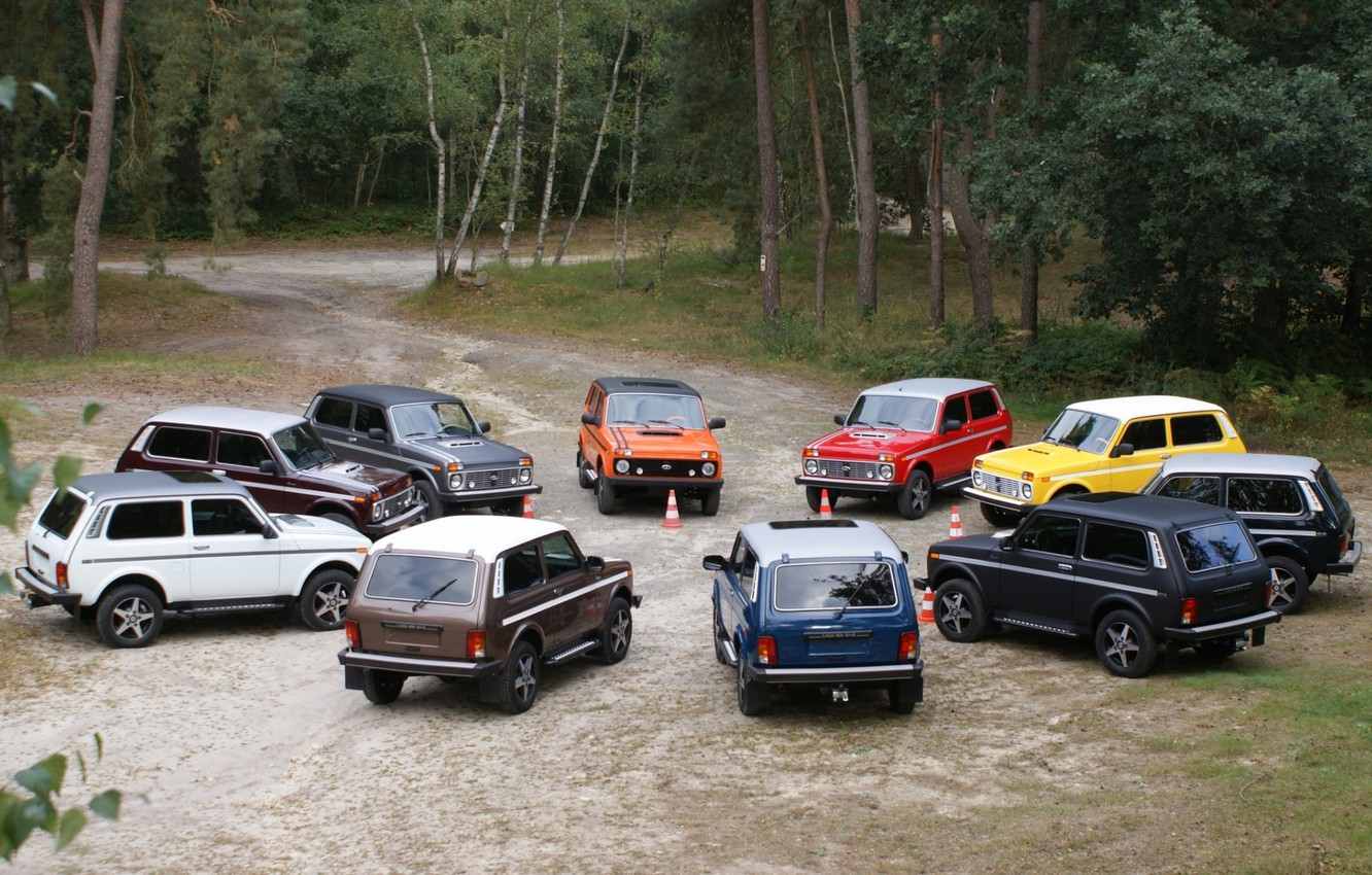 Photo wallpaper forest, background, tuning, jeep, SUV, Lada, tuning, Lada, 4x4, Niva, Niva, An
