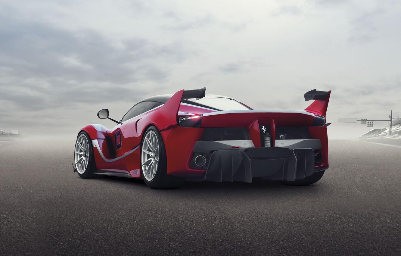 Photo wallpaper background, Ferrari, Ferrari, supercar, rear view, FXX K