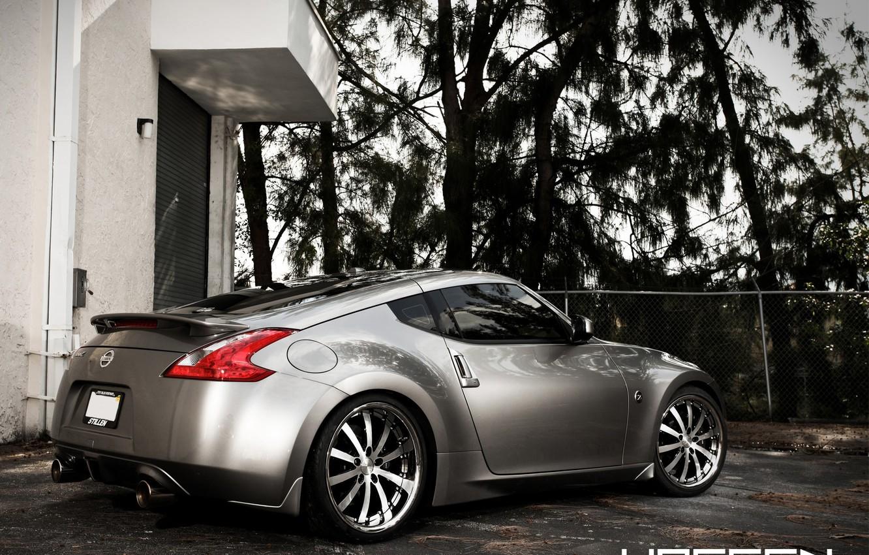 Photo wallpaper Trees, Grey, Nissan