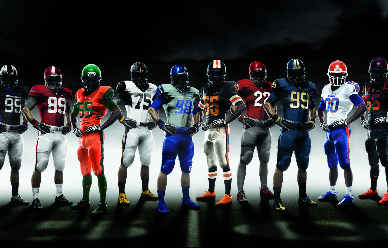 Photo wallpaper sport, form, American football, Nike Pro combat 2010, NCAA