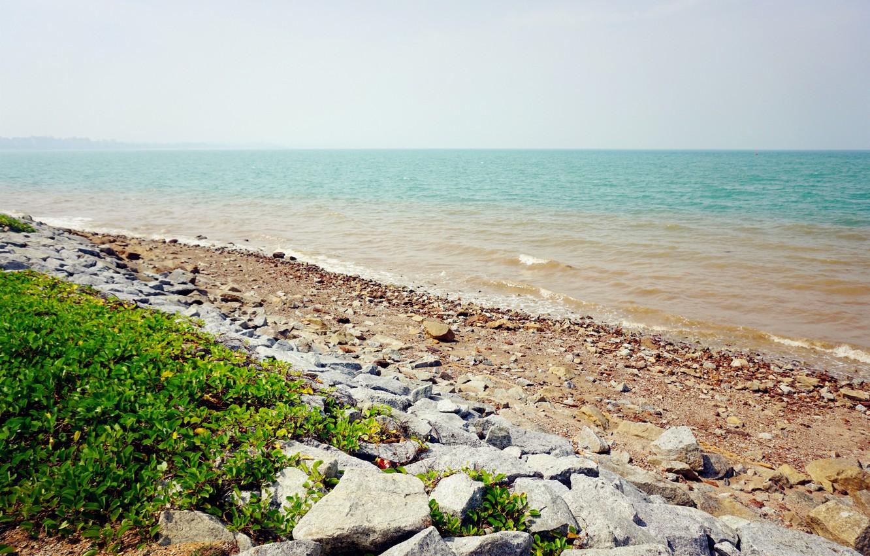Photo wallpaper beach, sea, blue, evening, sand, port, sensational, malaysia, dickson