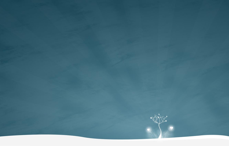Photo wallpaper winter, snow, style, tree