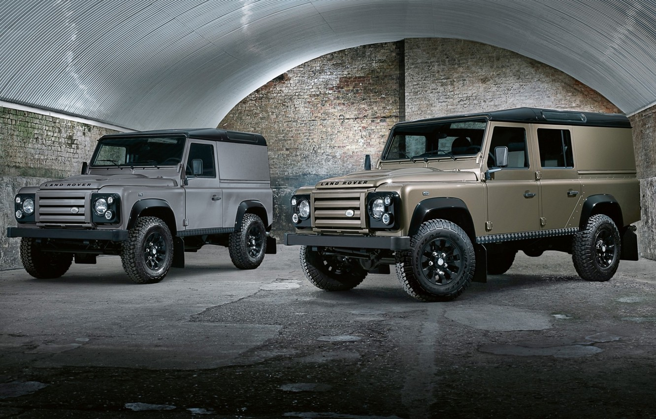 Photo wallpaper background, hangar, jeep, SUV, Land Rover, the front, Defender, Land Rover, 110, Defender, X-Tech, Wagon, …