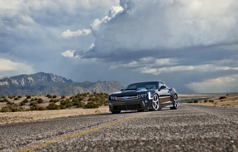 Photo wallpaper road, auto, tuning, muscle car, Camaro, chevrolet camaro, lunchbox photoworks