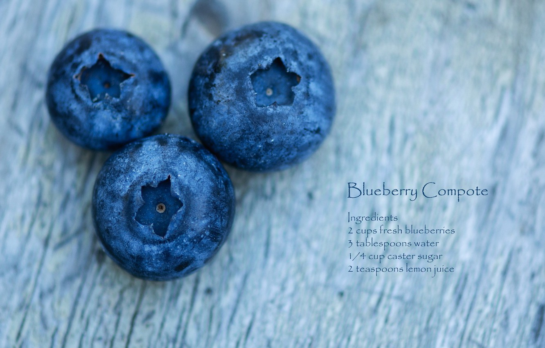 Photo wallpaper macro, berries, blueberries, recipe
