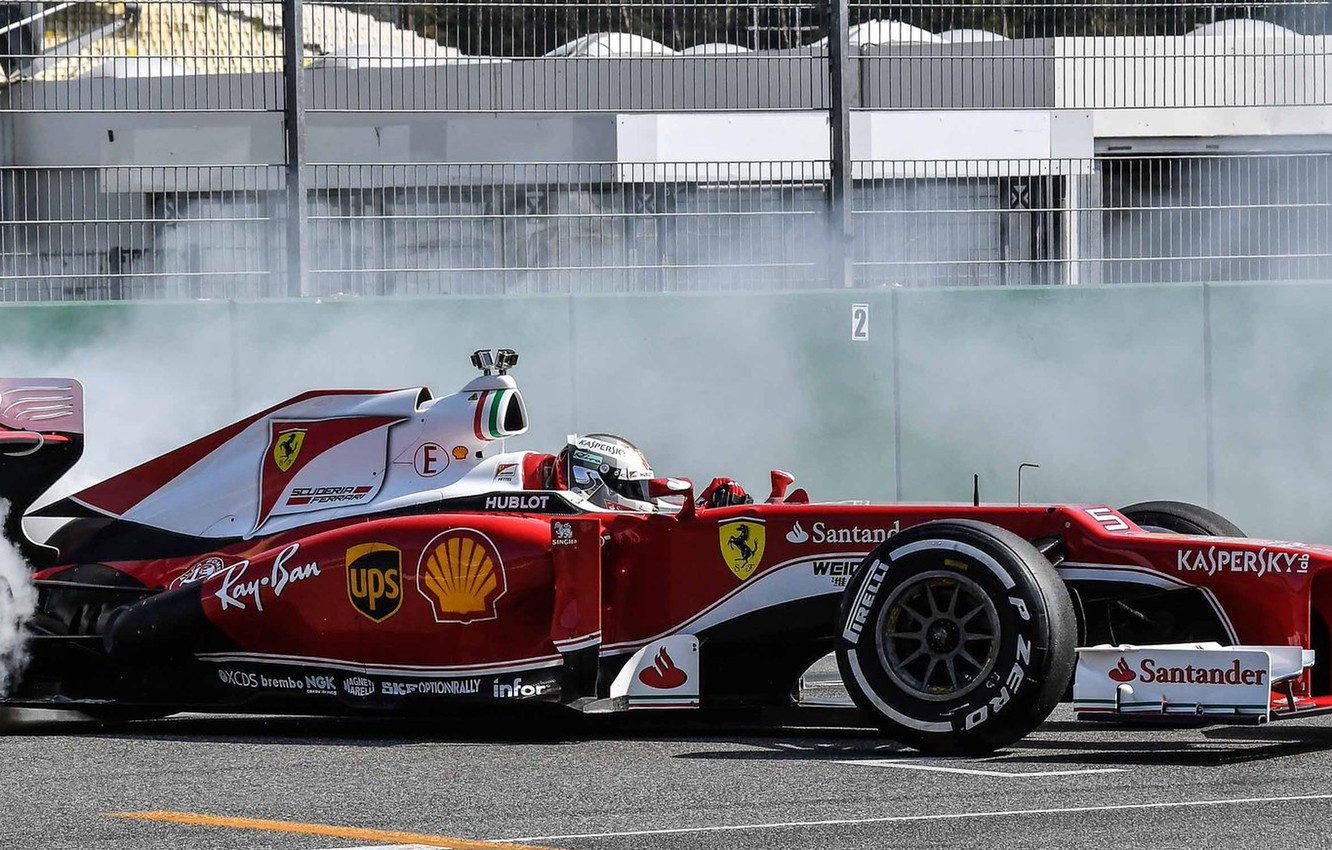 Wallpaper Smoke Ferrari Formula 1 Vettel F1 Images For