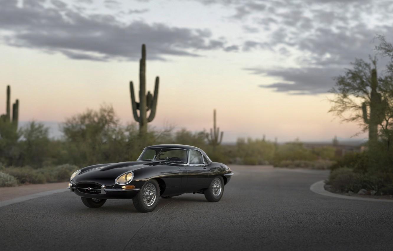 Photo wallpaper Roadster, Jaguar, E-Type, Series, 1966, 1 4.2-Litre
