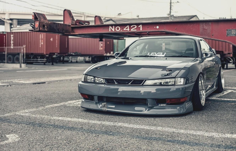 Photo wallpaper Silvia, Nissan, grey, S14