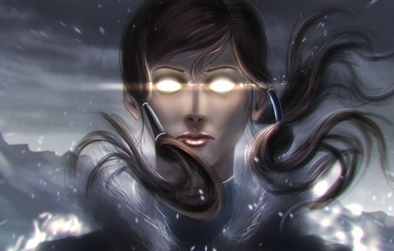 Photo wallpaper eyes, snow, magic, art, avatar, Korra, Times, The Legend of Korra, Avatar: the Legend of …