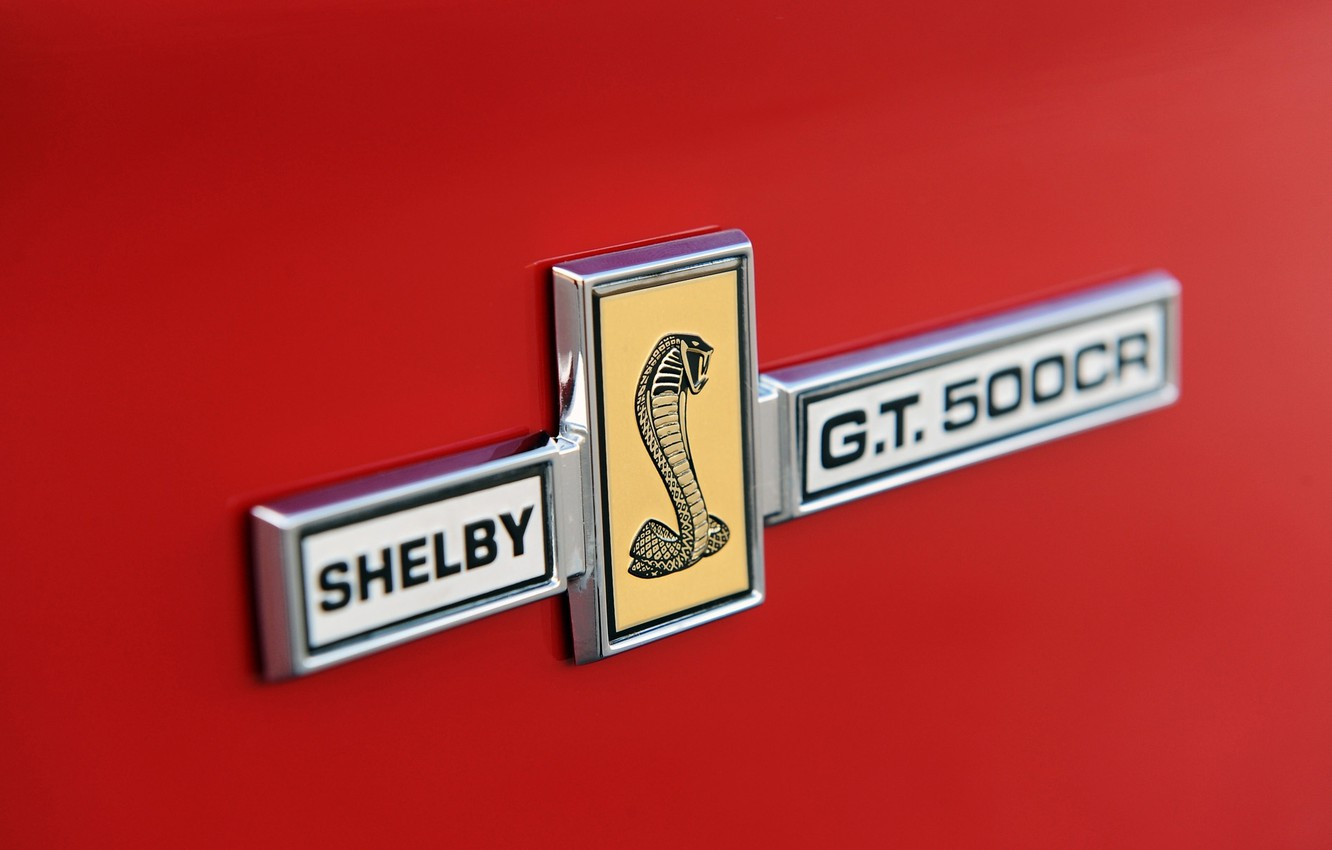 Photo wallpaper macro, Mustang, Ford, Shelby, Convertible, Ford, Mustang, emblem, Cobra, label, Convertible, Shelby, Classic Recreations, 500CR