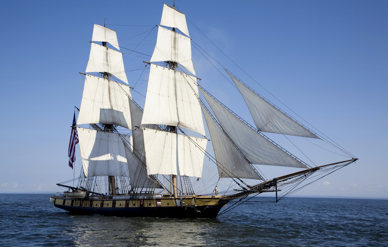 Photo wallpaper photo, Sea, Ship Sailboat