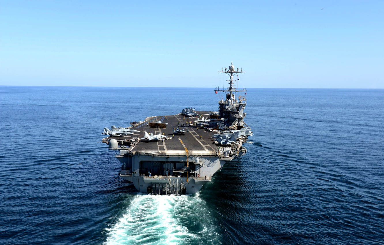 Photo wallpaper the carrier, American, willingness to fly, Gulf of Oman, (CVN 75), «Harry S. Truman»