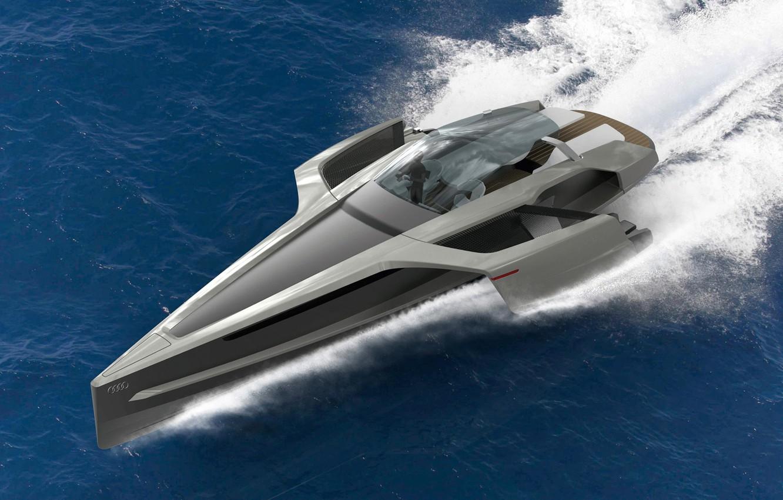 Photo wallpaper water, Audi, Audi, Yacht, the concept, Design Concept, Trimaran