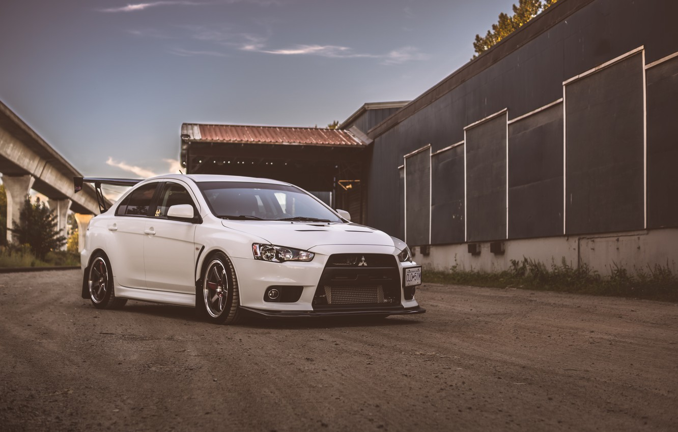 Photo wallpaper Mitsubishi, Lancer, Evolution, White, X