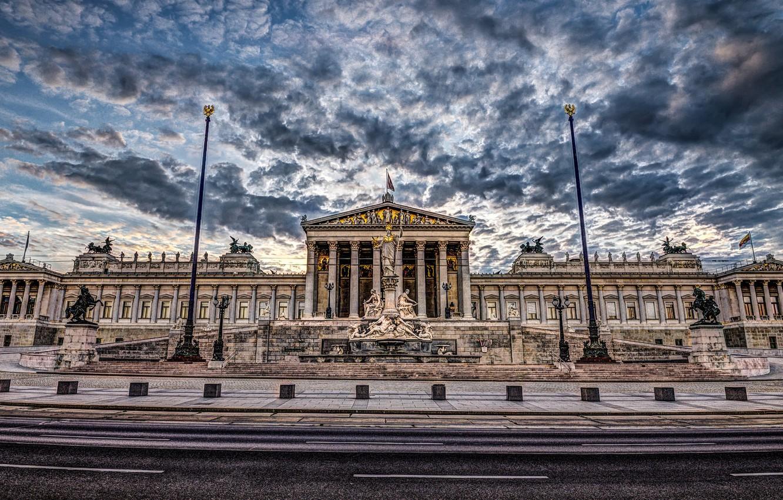 Photo wallpaper Austria, hdr, architecture, Parliament, Vienna