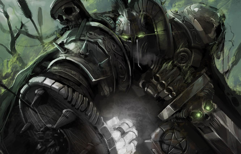Photo wallpaper weapons, sword, warrior, art, helmet, fist, armor