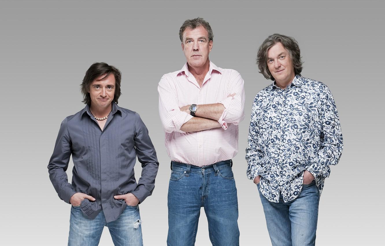 Photo wallpaper Wallpaper, jeans, Top Gear, wallpaper, journalists, Discovery, men, top gear, Jeremy Clarkson, Richard Hammond, funny, …
