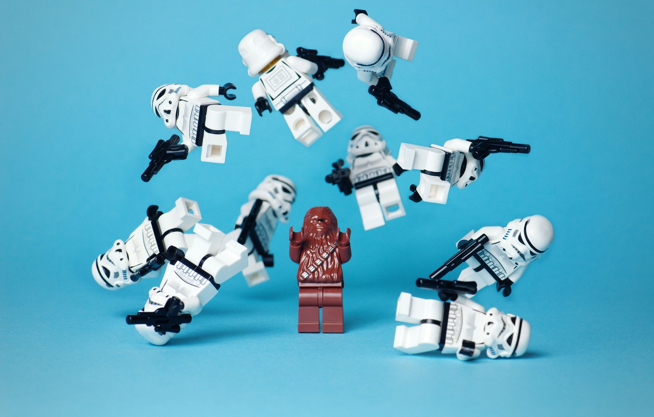 Photo wallpaper toys, star wars, characters, star wars, funny, lego strormtroopers