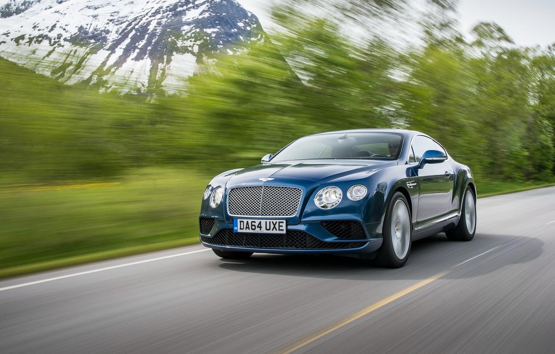 Photo wallpaper blue, Bentley, Continental, Bentley, continental, 2015