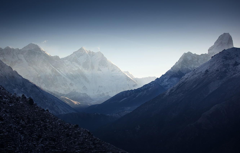 Photo wallpaper mountains, The Himalayas, Lhotse, Ama Dablam, Nuptse, Peak 38