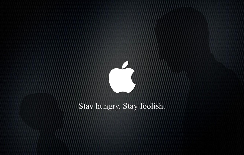 Photo wallpaper apple, Steve jobs, stay foolish, steve jobs, stay hunry