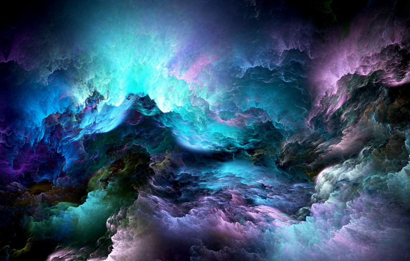 Photo wallpaper clouds, background, colors, abstract, space, background, clouds, unreal