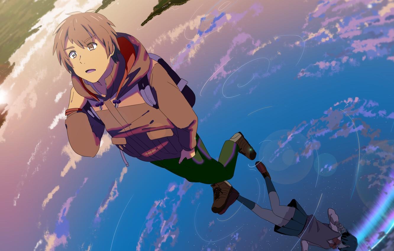 Photo wallpaper anime art guy kimi no va on your name