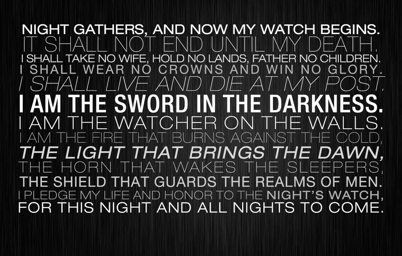 Photo wallpaper light, sword, night, walls, live, come, death, guards, Game of Thrones, glory, letters, honor, father
