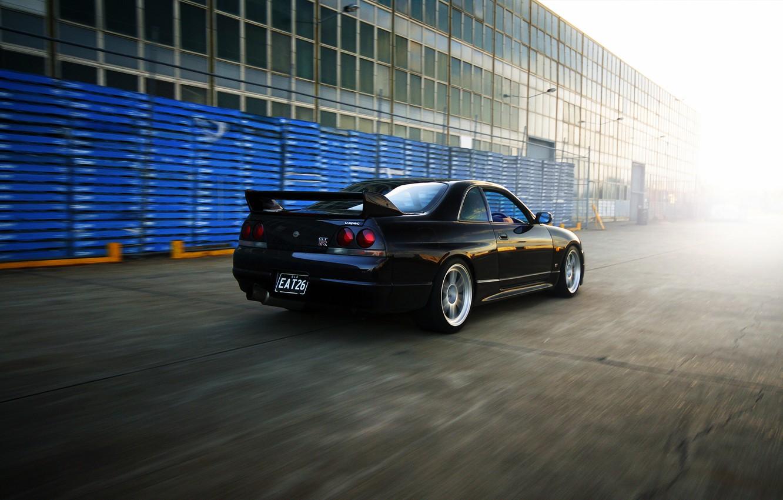 Photo wallpaper Nissan, GT-R, track, Nissan, Skyline, R33, V-spec