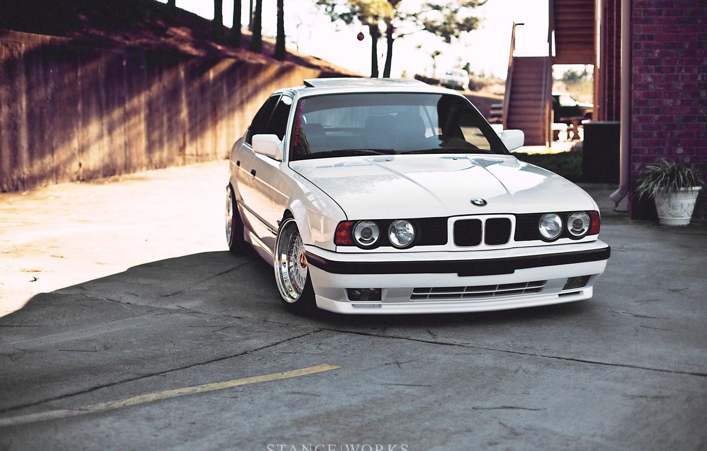 Photo wallpaper White, BMW, BMW, StanceWorks