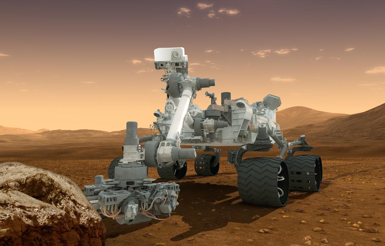 Photo wallpaper Mars, NASA, the Rover, Curiosity