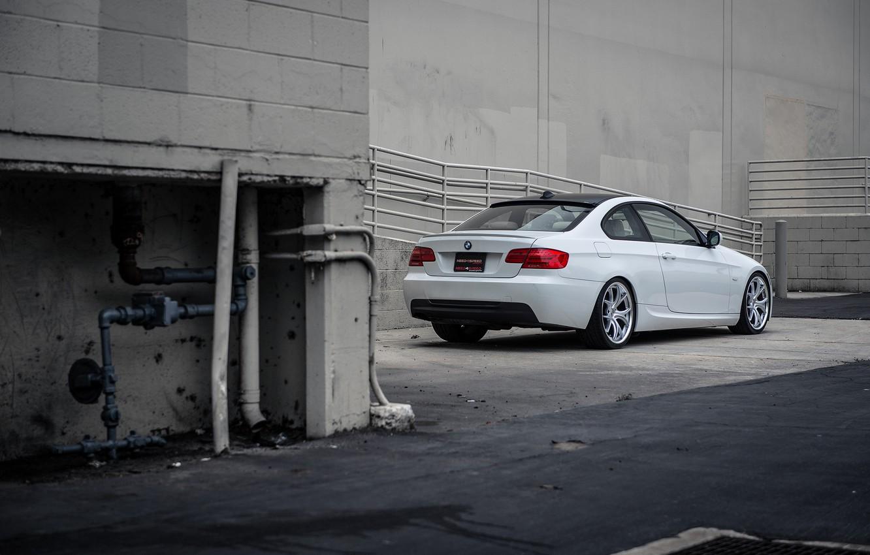 Photo wallpaper tuning, BMW, BMW, white, E92, 328i, MRR Wheels