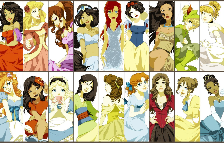 Photo wallpaper Disney, all, Princess, Disney