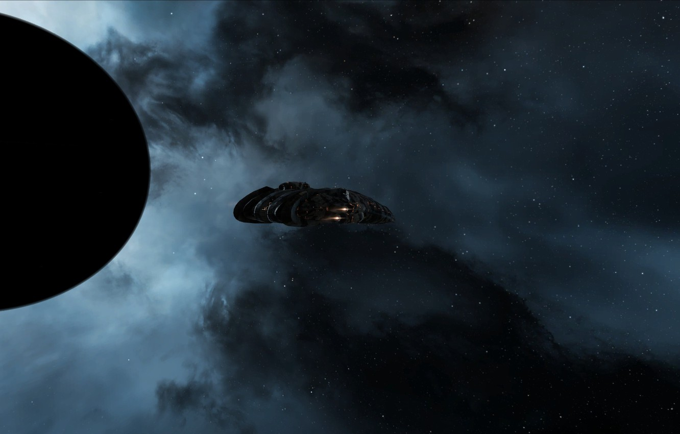 Photo wallpaper space, nebula, eve online