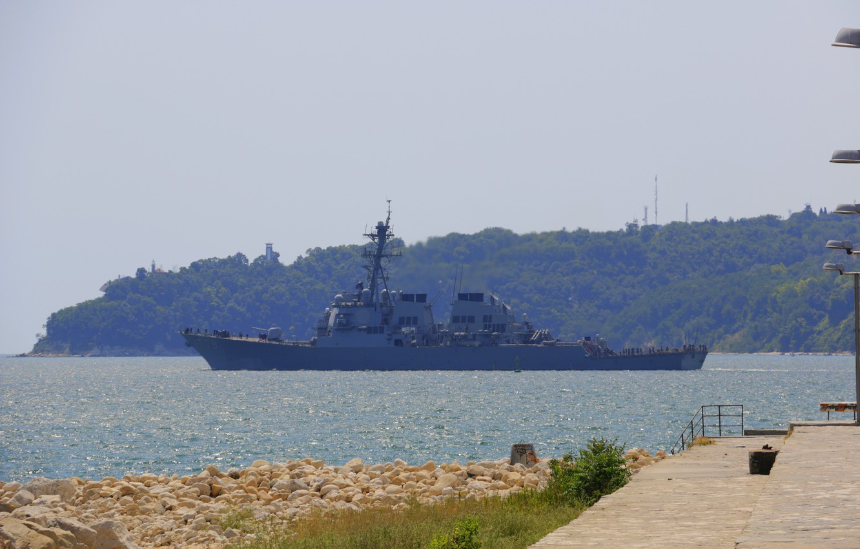 Photo wallpaper sea, ship, military, military